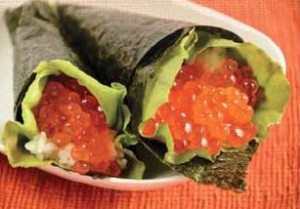 Ikura-Temaki-Sushi