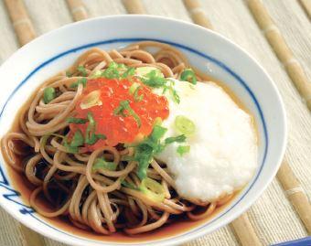Ikura Tororo Soba Recipe