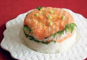 Salmon Pressed Sushi