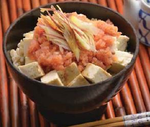 Tofu Mentaiko Don