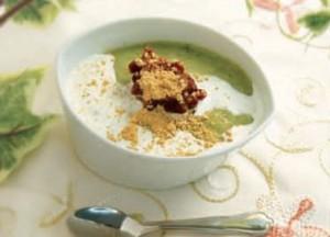matcha soymilk dessert