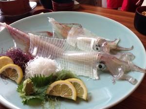 ika sashimi hoso zukuri