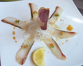white fish carpaccio