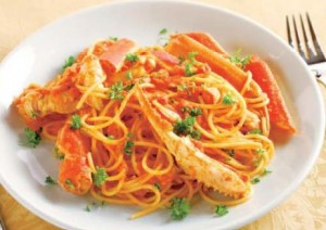 Snow Crab Cream Tomato Pasta