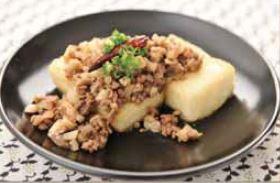 Tofu-Steak-Topped-Kinoko-Soboro